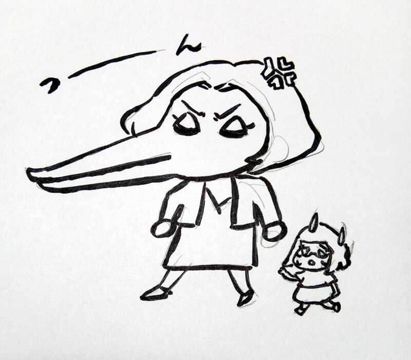 怒るプラ子