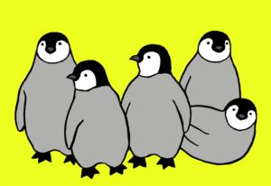 子ペンギンイラスト