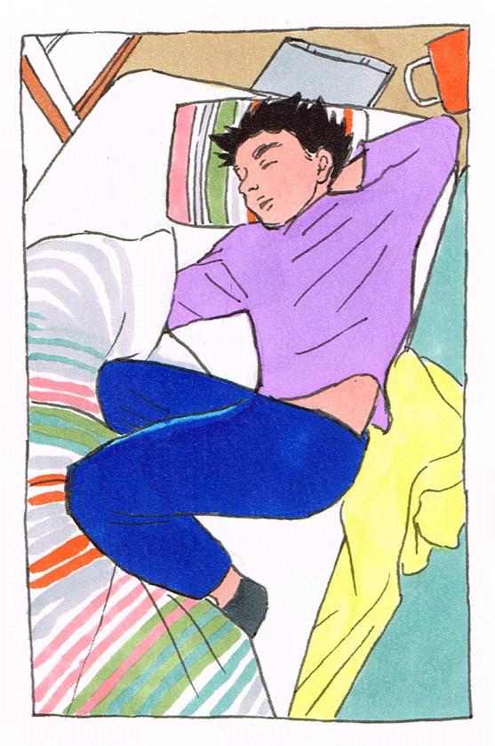 寝てる彼氏